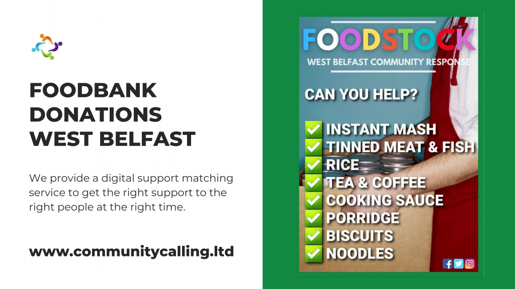 FOODSTOCK FOODBANK DONATIONS WEST BELFAST