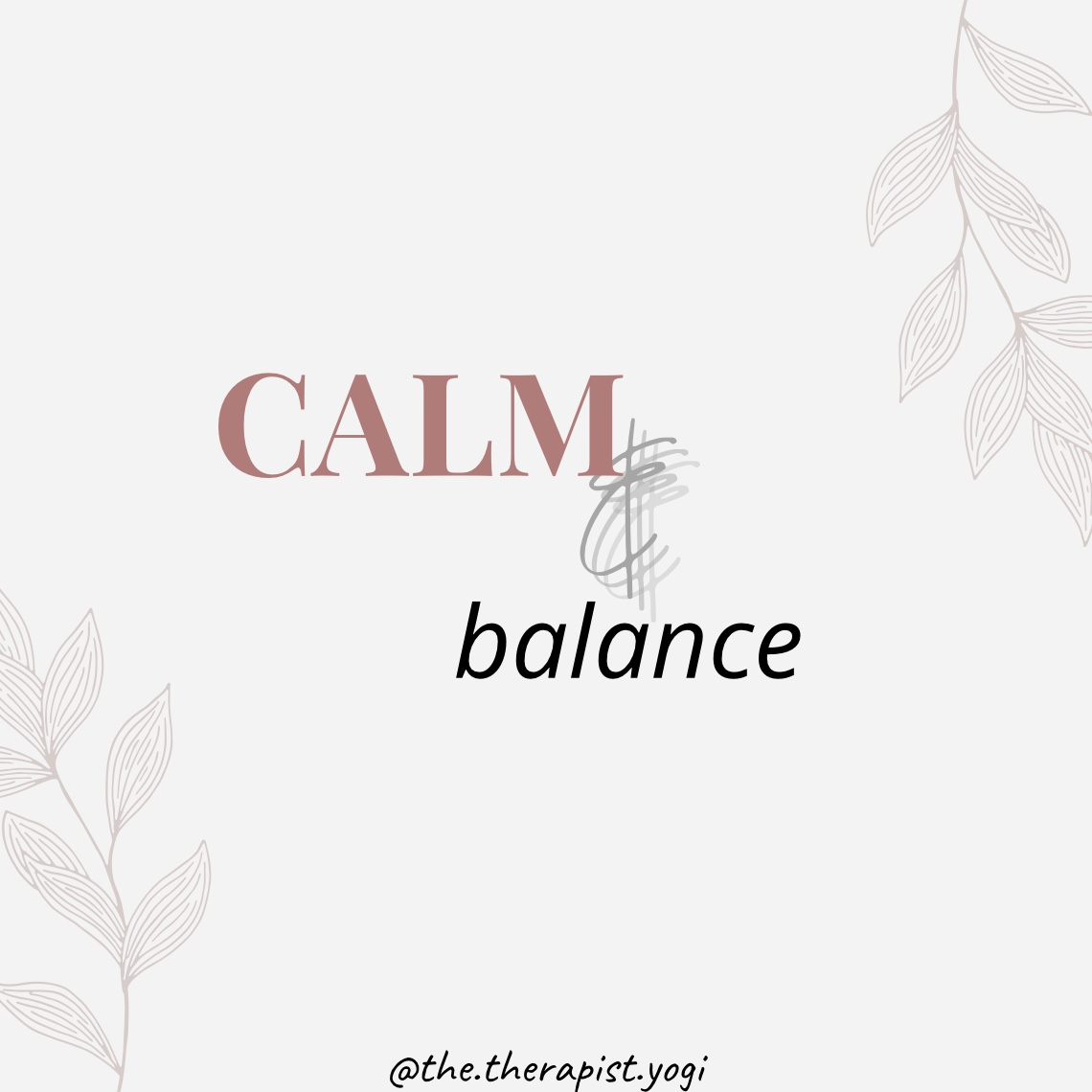 Calm & Balance Workshop with Dr Annalisa Manca