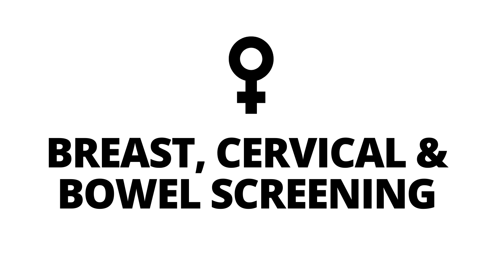 Breast, Cervical & Bowel Screening Awareness Events